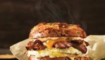 Einstein Bros. Bagels debuts uber-Texan breakfast sammie, featuring slow-smoked brisket