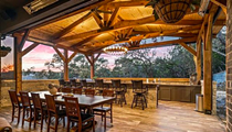 This North San Antonio home comes with the ultimate outdoor kitchen and a 1,600-bottle wine cellar