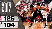 Rockets Blow Past Spurs, Tie Series at 2-2