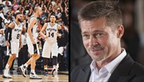 Brad Pitt Paid $40,000 So He Can Hang Out with the Spurs