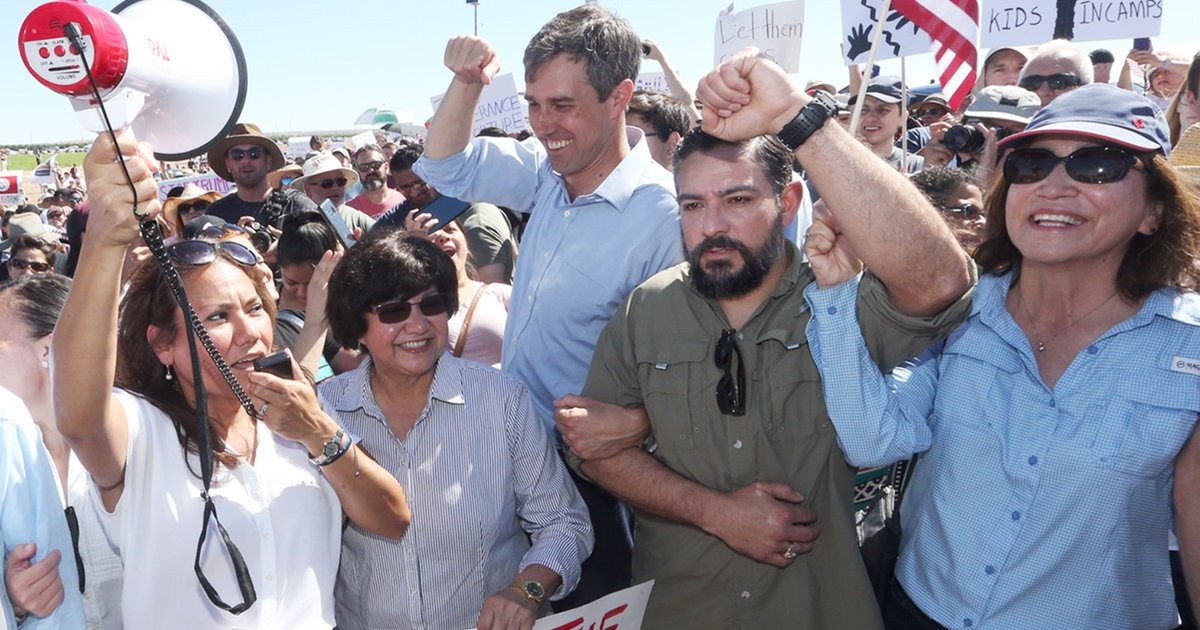 From a Tornillo Protest to a Roundtable with Santa Fe Shooting Survivors, Beto O'Rourke Had a Busy Father's Day