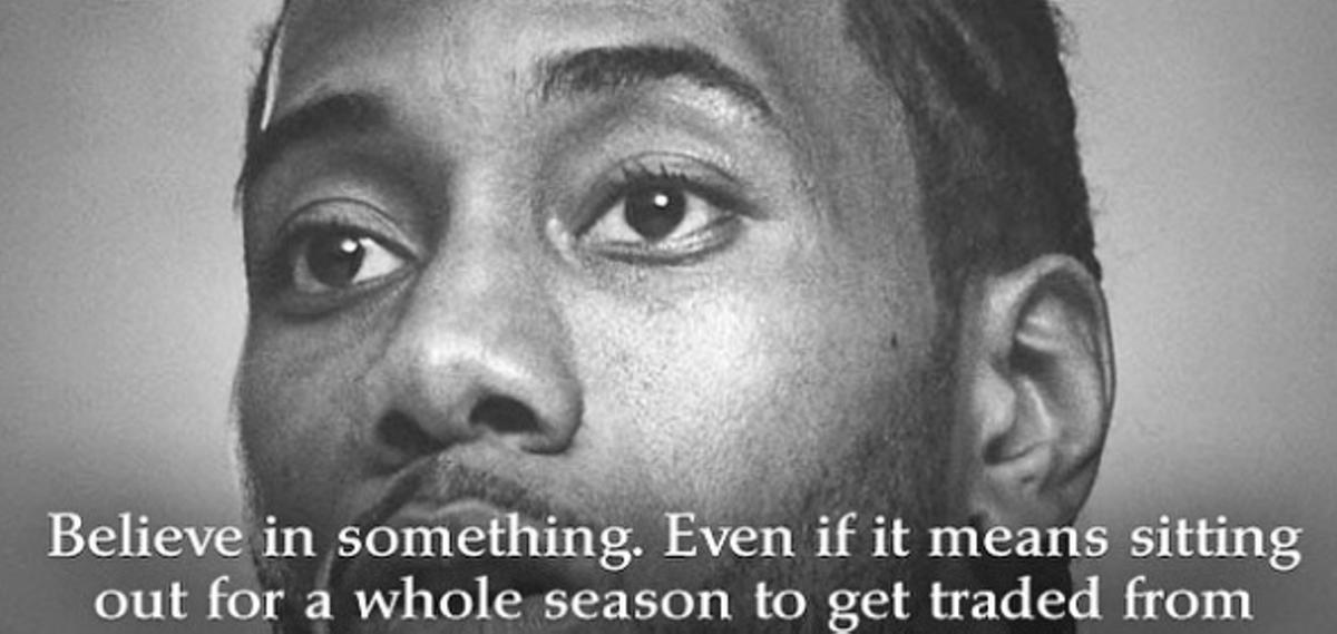Spoof Of Colin Kaepernick S Nike Ad Pettily Mocks Kawhi Leonard Artslut