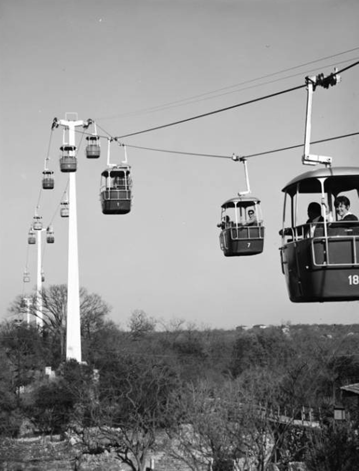 fc7e0252c0b San Antonians first got to enjoy the well-loved Sky Ride at Brackenridge  Park when the attraction opened on November 14