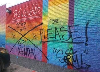'Pride Wall' in Houston's LGBTQ Neighborhood Defaced by Vandals