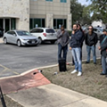 Protest Against Trump's Border Wall Held at Will Hurd's Office