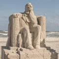 A Facepalming Lincoln Took Home the Grand Prize at This Year's Texas SandFest