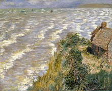 PHOTO: BROOKLYN MUSEUM - Claude Monet (French, 1840–1926). Rising Tide at Pourville, 1882. Oil on canvas, 26 x 32 in. (66 x 81.3cm). Brooklyn Museum, Gift of Mrs. Horace O. Havemeyer, 41.1260.