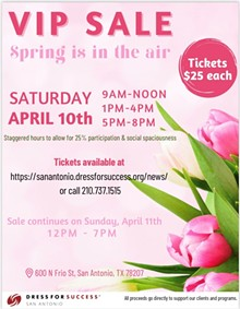 Dress for Success San Antonio VIP Sale Flyer - Uploaded by DFFSA