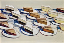 Wayne Thiebaud, Pies, Pies, Pies, 1961. Oil on canvas, 20 x 30 in. - Uploaded by McNay Art