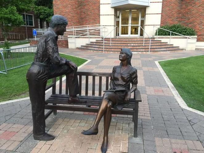 "Meet ""Mansplaining The Statue."" - SADDIEGO/TWITTER"