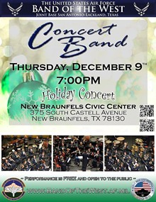 USAF Band of the West Holiday Concert @ New Braunfels
