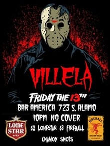 VILLELA'S FRIDAY The 13th at Bar America