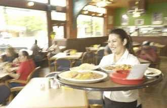 Waitress Veronica Medina serves up the good stuff at Taco Haven.
