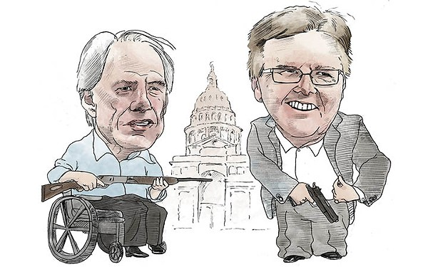 With Greg Abbott and Dan Patrick at the helm, this legislative session is sure to be wild. - JEREMIAH TEUTSCH