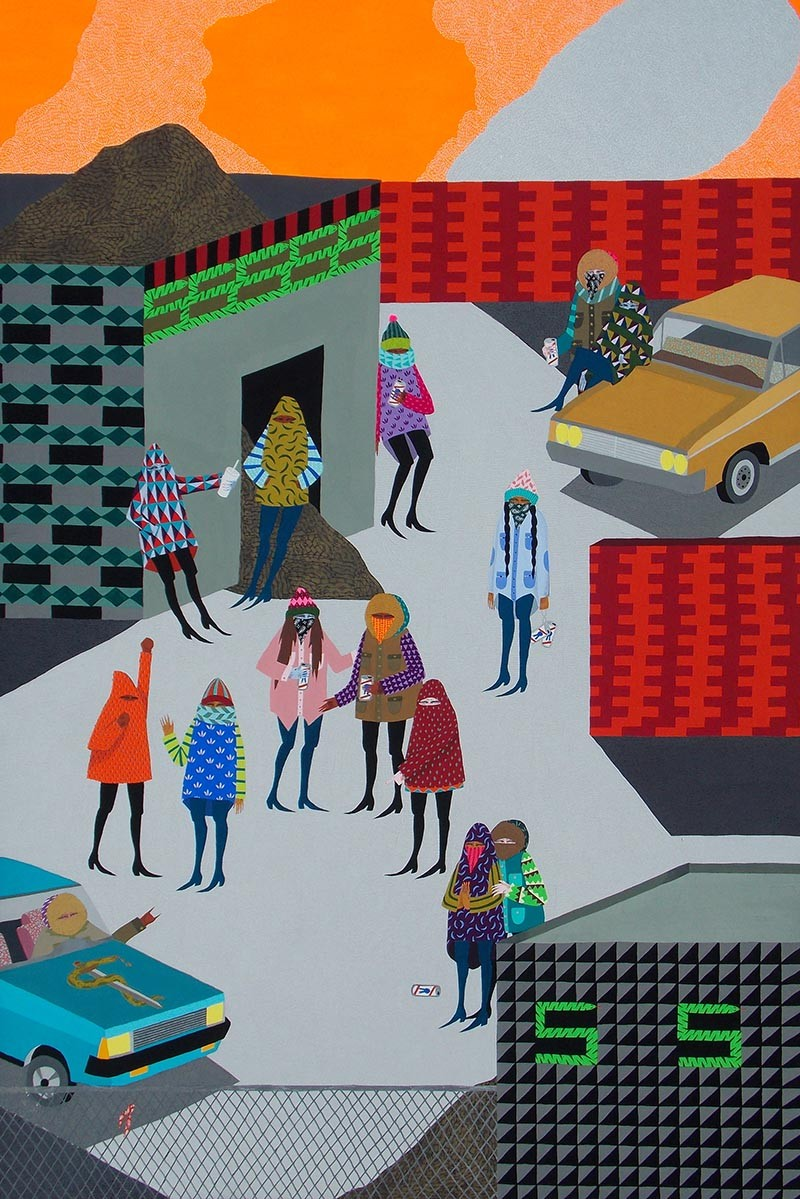 Work by Angela Fox ('Spatial Planes') - COURTESY