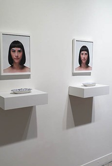 Works by San Antonio artists Jennifer Ling Datchuk (left) and Roberto Celis (above).