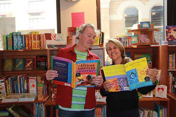 Writer Naomi Nye right in her comfort zone at the Twig Book Shop - BEN RODE