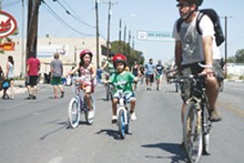 Young riders at Síclovía, Sunday, October 3, 2011.