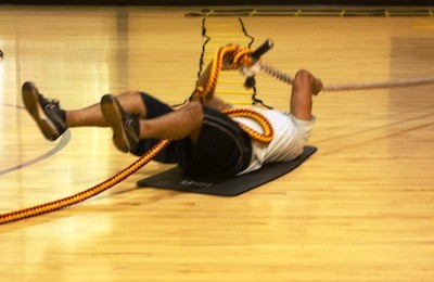 A MAT MAKES IT EASIER TO PULL YOUR BODY ACROSS THE FLOOR USING A ROPE - WINA STURGEON