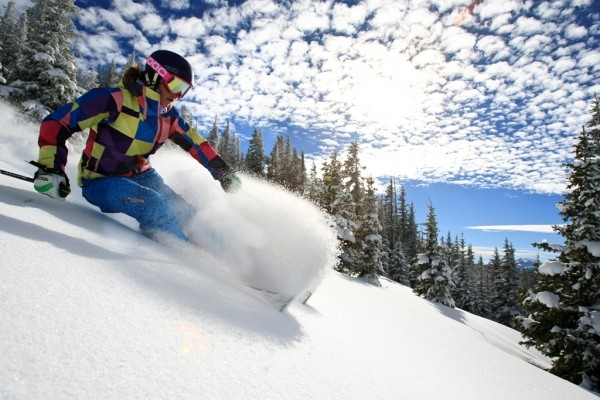 A skier hits the slopes at Epic Pass destination Veil - LIAM DORAN