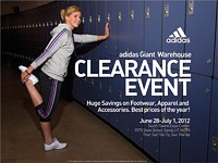 Adidas Giant Warehouse Clearance Event