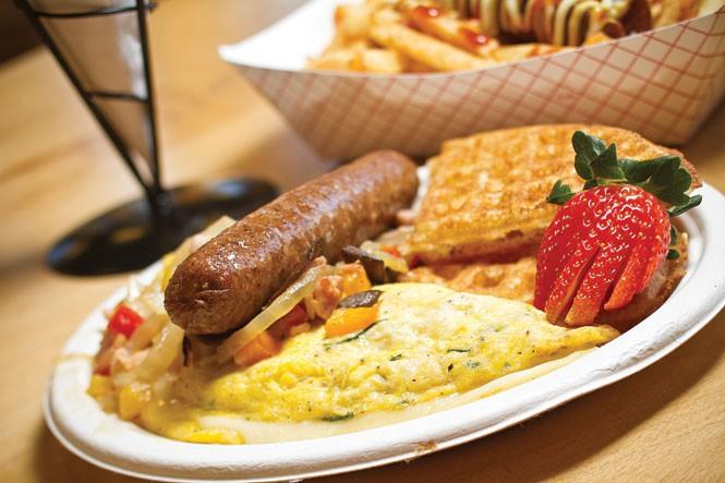Bruges Waffles & Frites omelet The Averell