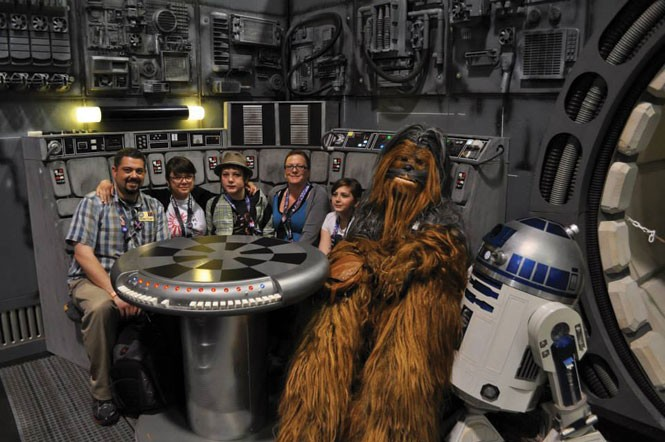 Bryan Young (left) and entourage at Star Wars Celebration in Anaheim