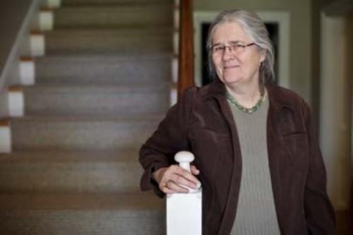 Carol Edison at the Chase Home Museum - ERIK DAENITZ