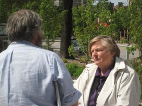 Claudia Wright at the Coffee Party rally. - JOSH LOFTIN