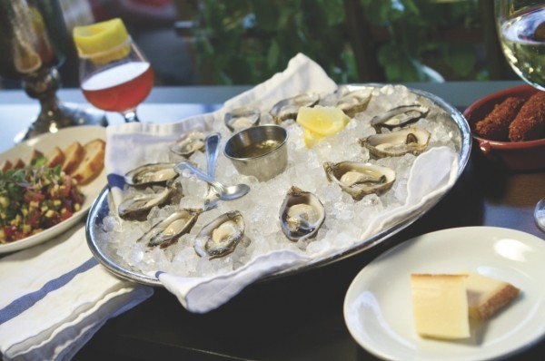 Copper Common's fresh-shucked oysters - JOHN TAYLOR