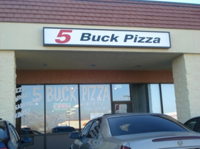 Five Buck Pizza Slc Airport N Temple Fair Park Pizza Restaurants