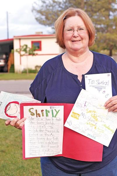 Former Uintah Elementary School lunchroom manager Shirley Canham