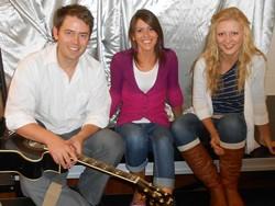 From left to right, Bret Scherer, Danielle Webb, Kimberly Woodland - DANIELLE WEBB