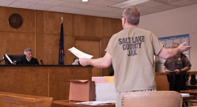 Gollaher defends himself before Judge Noel. S. Hyde - JOSH SCHEUERMAN