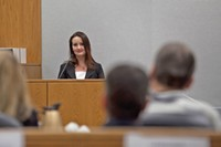 Gypsy Willis looks at defendant Martin MacNeill as she testifies about their relationship during an October 2012 preliminary hearing. - THE DAILY HERALD // MARK JOHNSTON