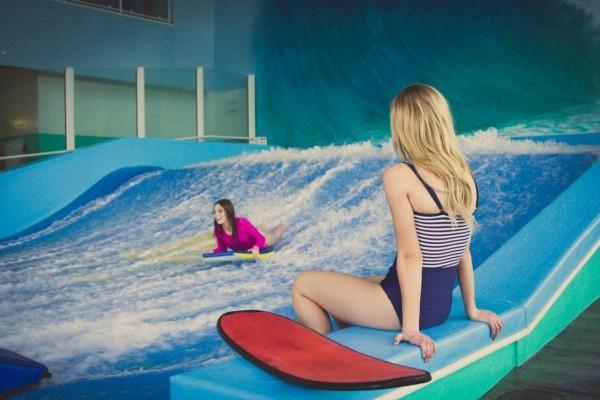 Indoor surfing at Provo Beach