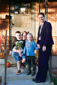 Jane Hoffman, seated, was able to adopt her sons, Paul and Eli, after Utah's Amendment 3 was struck down. Under Utah's same-sex marriage ban, only the boys' birth mother, Emily Sutherland, right, was legally recognized as a parent.
