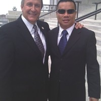 Mark Shurtleff and Sov Ouk at Utah Capitol