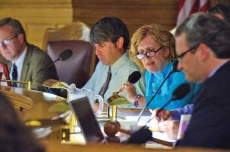 Members of the Salt Lake City Council discussing the city's LGBT Nondiscrimination ordinance