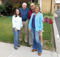 Members of Wasatch Taxpayers Association, left to right: Merry Duggin, Dennis Jensen, Chuck Zuercher and Tracy Taylor