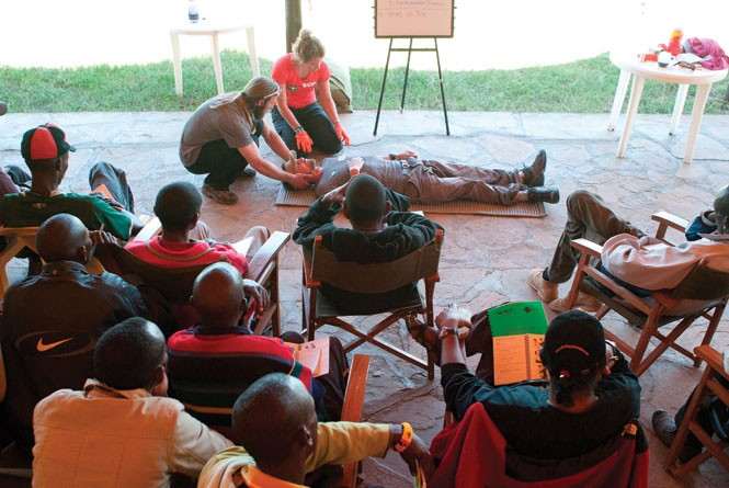 Mountain Education Development leads a Wilderness First Aid training in Kenya