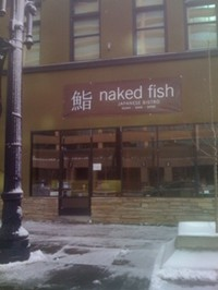 Naked Fish Restaurant in downtown Salt Lake City
