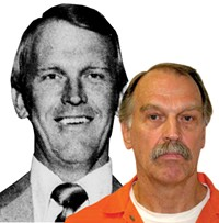 Ron Lafferty in a 1977 Daily Herald photo, and today in the Utah State Prison