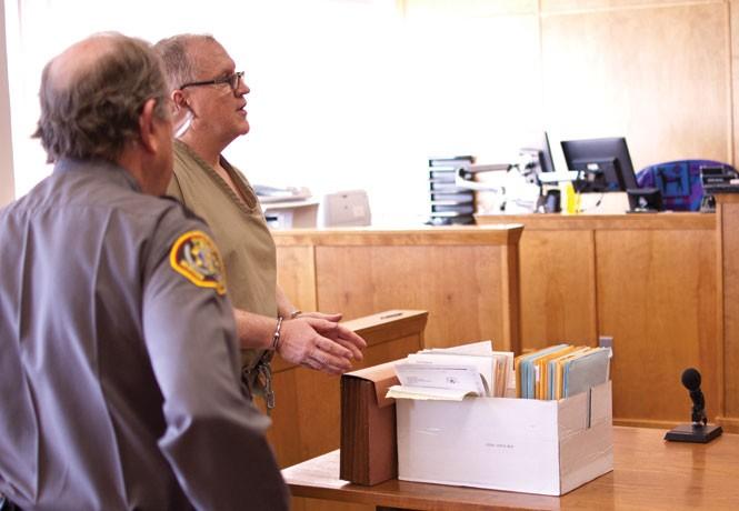 Scott Gollaher appears at 2nd District Court in Morgan, Utah, representing himself. - JOSH SCHEUERMAN