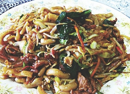 Shanghai beef fat noodles