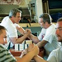 Sports | Elbow Room: Bob Brown provides a training space for would-be champion arm-wrestlers.