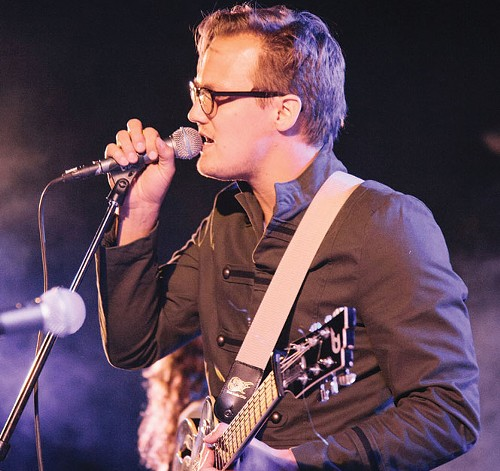 Stuart Maxfield of Fictionist performing at the Rooftop Concert Series in 2012 - JUSTIN HACKWORTH