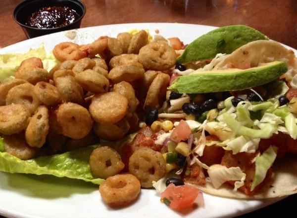 The Baja tacos at Piper Down.