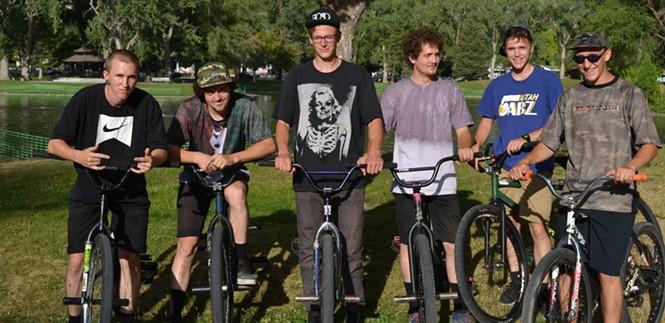 The FOAD bike crew. (L-R) Spencer, E. Service, Bradshaw, I. Service, Allgood, Thompson