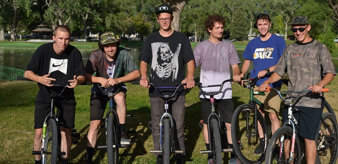 The FOAD bike crew. (L-R) Spencer, E. Service, Bradshaw, I. Service, Allgood, Thompson